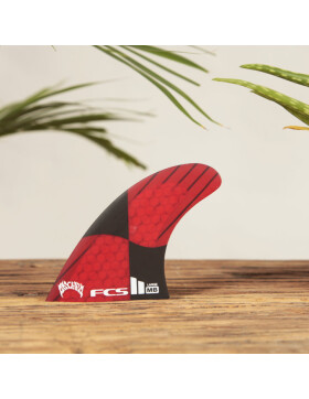 FCS II MB PC Carbon Large Rocket Red Tri Retail Fins